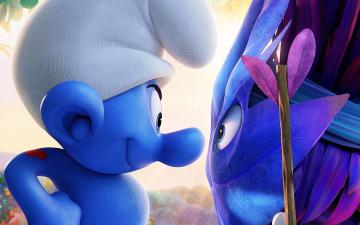 обоя мультфильмы, smurfs,  the lost village, the, lost, village