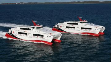 Картинка корабли катамараны тримараны water taxi