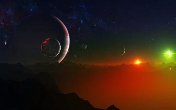 Картинка 3д графика atmosphere mood атмосфера настроения звезды планеты