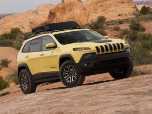 Картинка автомобили jeep желтый kl concept dakar cherokee