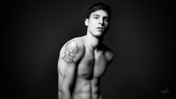 Картинка мужчины -+unsort голый черно-белые мужчина парень татуировка обнаженный