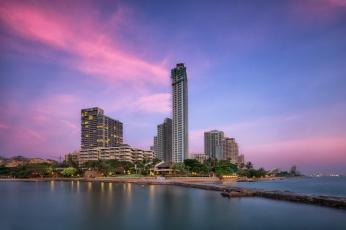 Картинка pattaya+beach города -+панорамы небоскребы перешейк океан