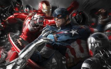 Картинка рисованное кино captain america мстители эра альтрона битва iron man фантастика супергерои avengers age of ultron