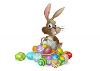 Картинка праздничные пасха яйца кролик