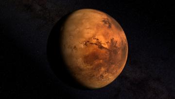 обоя космос, марс, планета