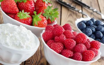 обоя еда, фрукты,  ягоды, fresh, клубника, малина, raspberry, ягоды, blueberry, strawberry, творог, черника, berries