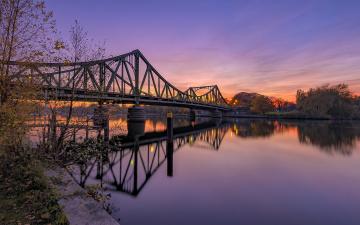 обоя города, - мосты, рассвет