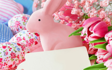 обоя праздничные, пасха, цветы, eggs, pastel, decoration, весна, tulips, тюльпаны, easter, flowers, spring, delicate, happy