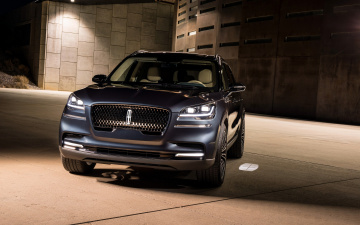 обоя 2019 lincoln aviator, автомобили, lincoln, элекроткар, new, luxury, suv, джип, front, view, 2019, aviator, electric, cars, линкольн
