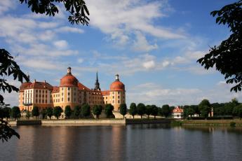 Картинка города дворцы замки крепости dresden moritzburg germany