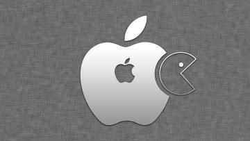 Картинка компьютеры apple логотип яблоко