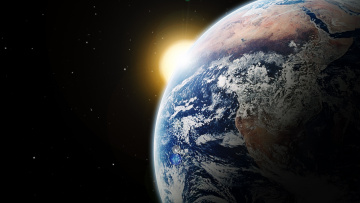 Картинка космос земля звезды планеты