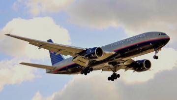 Картинка boeing+777-222er авиация пассажирские+самолёты механизация авиалайнер полёт небо