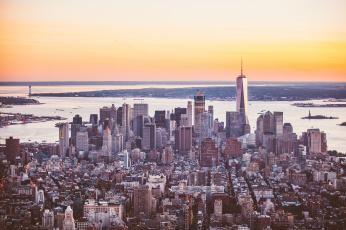 обоя города, нью-йорк , сша, панорама, небоскребы, здание, город, new, york, мегаполис