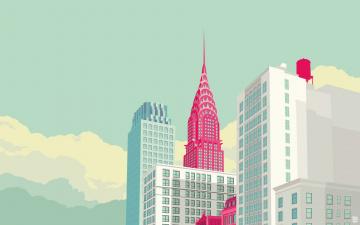 обоя векторная графика, город , city, город, дома