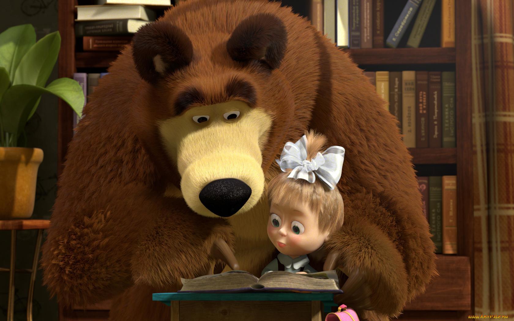 Картинки год, открытки маша и медведь все серии