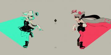 Картинка аниме splatoon