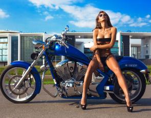 обоя moto girl 870, мотоциклы, мото с девушкой, moto, girls