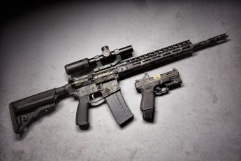 обоя оружие, пистолет, оптика, glock, штурмовая, винтовка