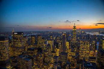 обоя города, нью-йорк , сша, соединенные, штаты, огни, нью-йорк, wtc, манхэттен, эмпайр, стейт, билдинг, небоскребы, сумерки, 1, крайслер-билдинг, облака, one, world, trade, center