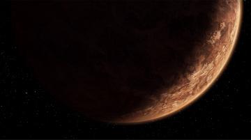 обоя космос, луна, brown, darkness, planet, korriba, the, old, republic, sci, fi, stars