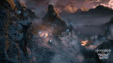 обоя horizon zero dawn,  the frozen wilds, видео игры, horizon, zero, dawn, the, frozen, wilds, action, шутер