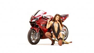 обоя moto girl 872, мотоциклы, мото с девушкой, moto, girls