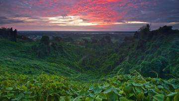 обоя природа, побережье, малайзия, мири, саравак, восход, закат