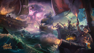 обоя видео игры, sea of thieves, приключения, action, адвенчура, sea, of, thieves