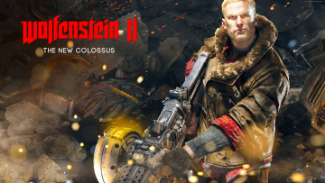 обоя wolfenstein ii,  the new colossus, видео игры, action, шутер, the, new, colossus, wolfenstein, ii