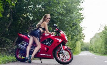 обоя moto girl 857, мотоциклы, мото с девушкой, moto, girls
