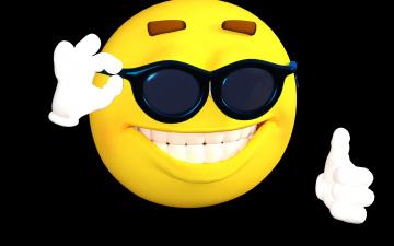обоя 3д графика, юмор , humor, улыбка, смайлик