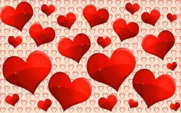 обоя праздничные, день святого валентина,  сердечки,  любовь, любовь, много, красных, сердечек