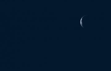 обоя космос, луна, небо, ночь