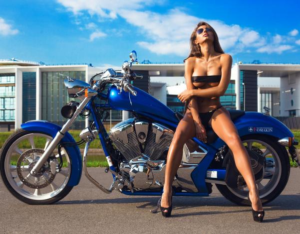 Обои картинки фото moto girl 870, мотоциклы, мото с девушкой, moto, girls