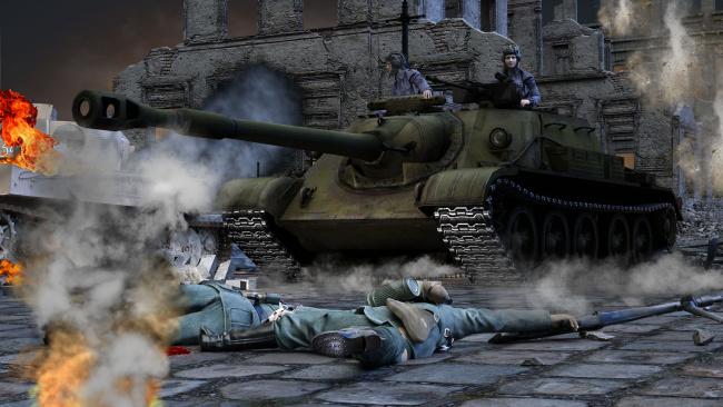 Обои картинки фото 3д графика, армия , military, танк, солдаты