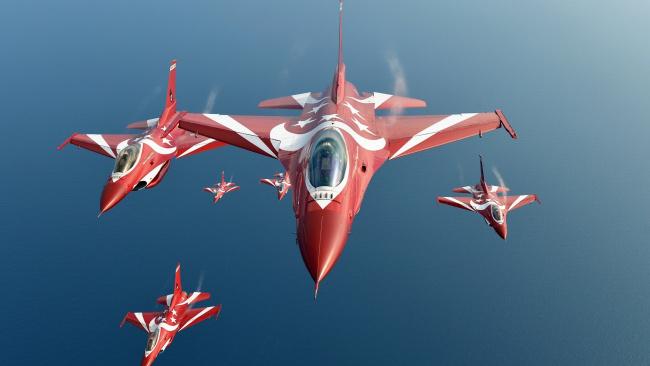 Обои картинки фото авиация, боевые самолёты, полет, самолеты