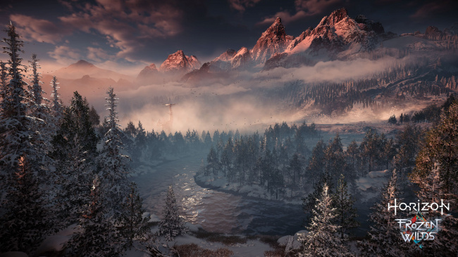 Обои картинки фото horizon zero dawn,  the frozen wilds, видео игры, horizon, zero, dawn, the, frozen, wilds, action, шутер
