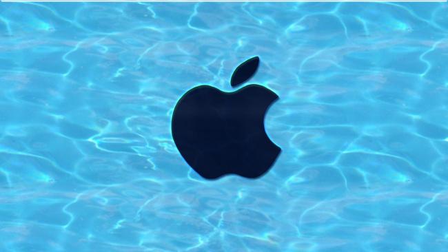 Обои картинки фото компьютеры, apple, фон, логотип