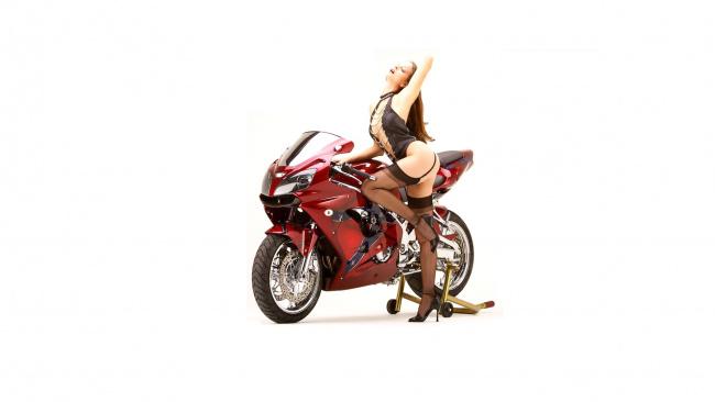 Обои картинки фото moto girl 871, мотоциклы, мото с девушкой, moto, girls