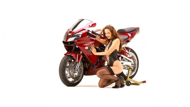 Обои картинки фото moto girl 873, мотоциклы, мото с девушкой, girls, moto