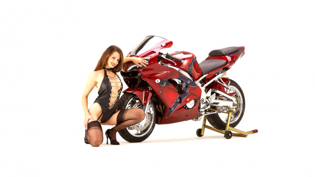 Обои картинки фото moto girl 874, мотоциклы, мото с девушкой, moto, girls