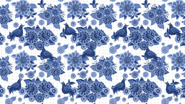 Обои картинки фото векторная графика, цветы , flowers, птицы, цветы