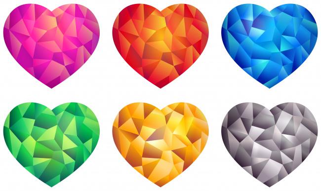 Обои картинки фото векторная графика, сердечки , hearts, фон, сердечки
