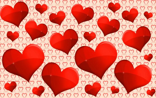 Обои картинки фото праздничные, день святого валентина,  сердечки,  любовь, любовь, много, красных, сердечек