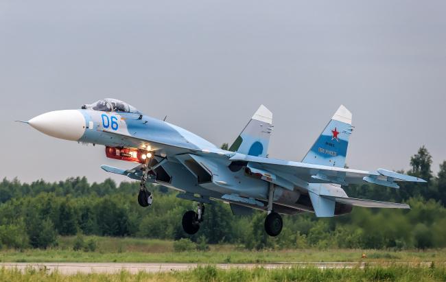 Обои картинки фото su-27, авиация, боевые самолёты, истребитель