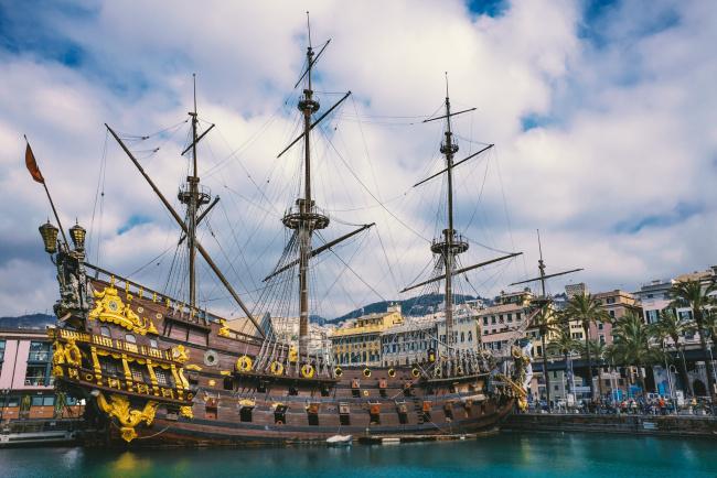 Обои картинки фото galeone neptune, корабли, парусники, паруса, мачты