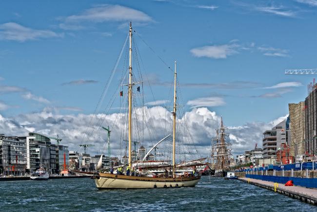 Обои картинки фото корабли, парусники, паруса, мачты