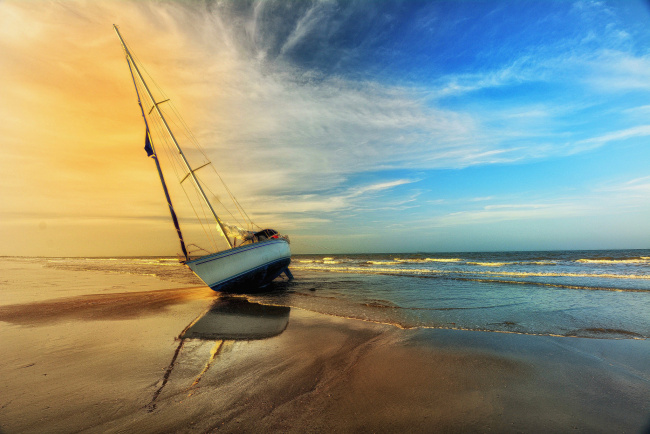 Обои картинки фото корабли, Яхты, побережье