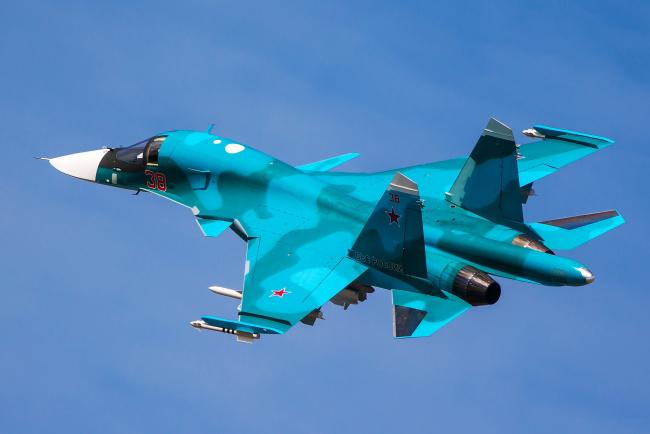Обои картинки фото su-34, авиация, боевые самолёты, бомбардировщик